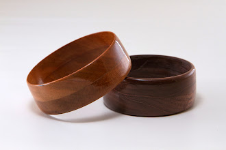 "Photo: Joe Barnard 2 1/2"" Bangles [cherry & walnut]"