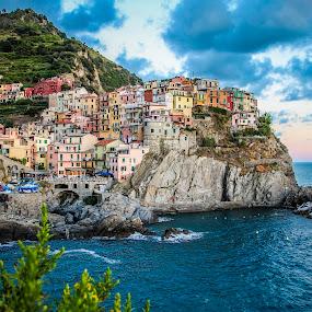 Manarola, Cinque Terre by Silvana Schevitz - Travel Locations Landmarks