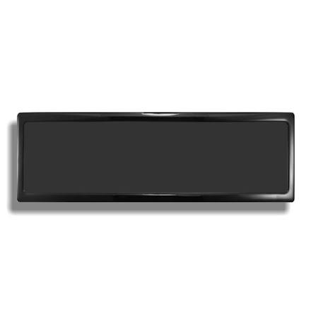 DEMCiflex magnetisk filter 4x140 mm, rektangulær, sort