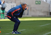 Ajax Cape Town coach Muhsin Ertugral cut a frustrated figure during the National First Division match against Cape Umoya United at Cape Town Stadium in  Cape Town on August 28 2018.