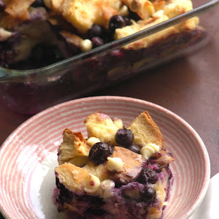 Blueberry Coconut Bread Pudding
