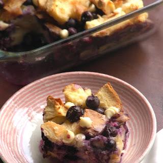 Blueberry Coconut Bread Pudding.