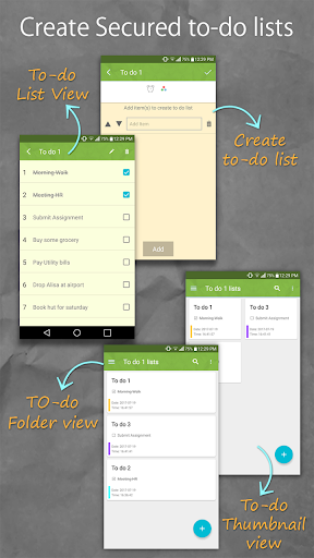 Secure Notes Lock - Notepad - Todo List screenshot 3