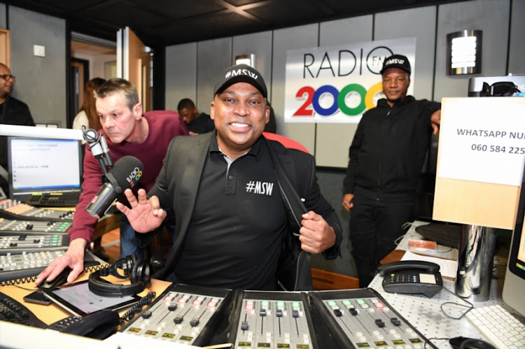 Robert Marawa back on Metro FM and Radio 2000 the show is called MSW (Marawa Sports World Wide) at SABC Studios on August 01, 2018 in Johannesburg, South Africa.