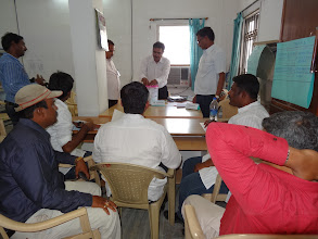 Photo: Counting Agents at GHMC Elections counting
