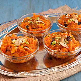 Carrot & Ricotta Cheese Pudding (Halwa)