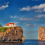 Dream House by Salehin Chowdhury - Landscapes Travel ( sea, rock, percé rock, house, landscapes, gaspe )