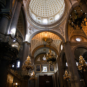 Dome of Puebla's Cathedral by Cristobal Garciaferro Rubio - Buildings & Architecture Places of Worship ( church, mexico, puebla, cathedral, domes )