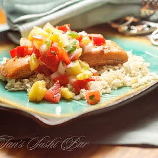 Ginger Soy Mahi Mahi with Grilled Pineapple Salsa