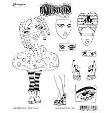 Dylusions Cling Stamps 8.5X7 - Curious Corrin