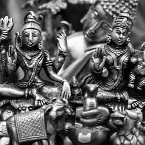 Shiva by Chandrasekhar Yanamandra - Artistic Objects Antiques ( buddha, monochrome, antique, shiva, ganesha )