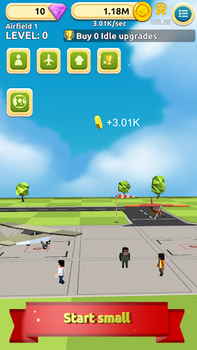 airfield tycoon clicker game screenshot 1