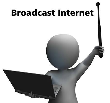 簡単にブロードキャスト無線LAN