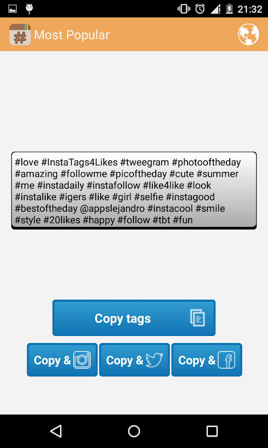 InstaTags4Likes Instagram Tags- screenshot