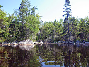 Photo: July 22. Position L. Going down east side of lake, small cove just past last habitations.