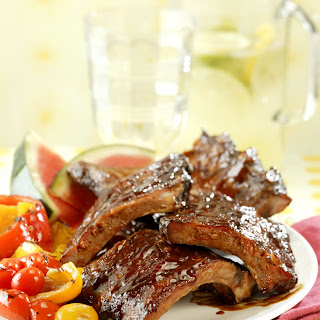 BBQ Baby Back Ribs with Spicy Girls' Dry Rub and Mop Sauce.