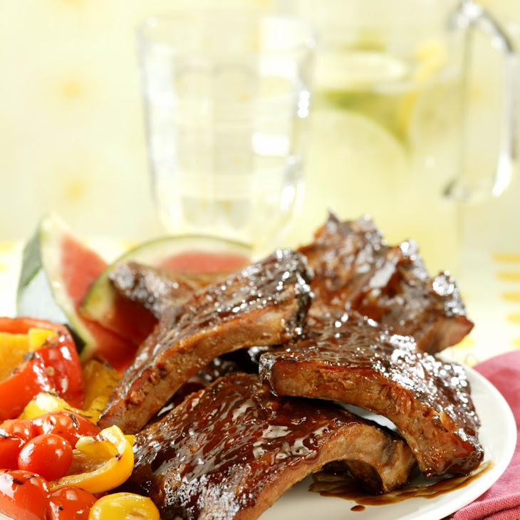 BBQ Baby Back Ribs with Spicy Girls' Dry Rub and Mop Sauce