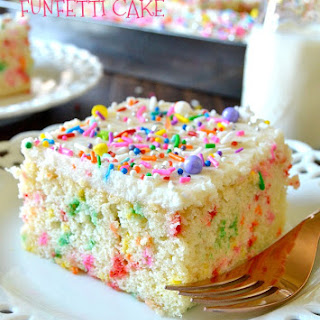 Easy Homemade Funfetti Cake From Scratch.