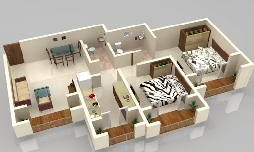 3d Home Floor Plan Design Screenshot Thumbnail