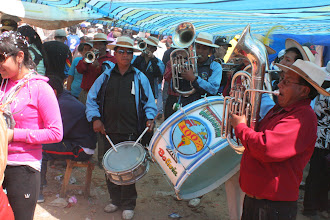 Photo: Renting a brass band to play a few songs during the blessing ceremony is extra encouragement to Pachamama/Mary