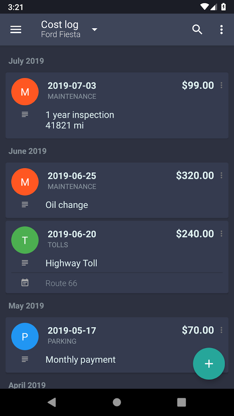 Fuelio: Gas log & costs, GPS tracker Screenshot 5