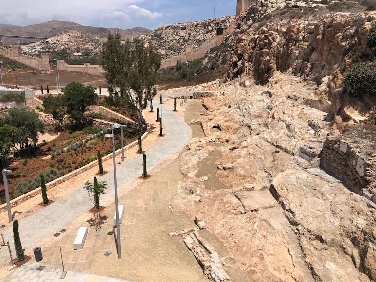 Viario junto a la zona en la que han aparecido restos arqueológicos