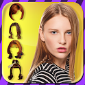 Women hairstyles - hair salon icon
