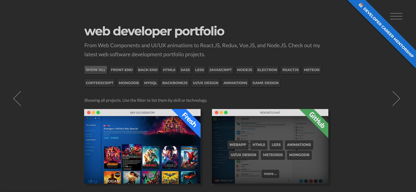 Web Developer Portfolio of Rafael Caferati