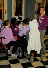 Photo: Stefanie Lancaster, DDC Administrative Officer, speaks with some of the advocates assembled for Disability Day at Legislative Hall on 3.25.15.