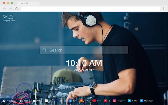 Martin Garrix New Tab Page HD Hot DJ Theme
