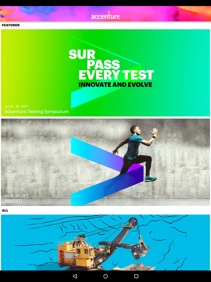 Accenture Events- screenshot