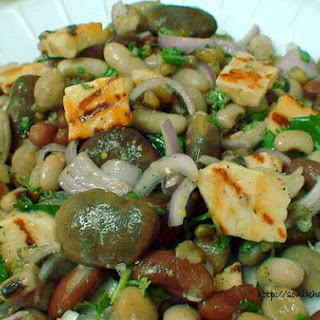 Halloumi Cheese and Mixed Beans Salad