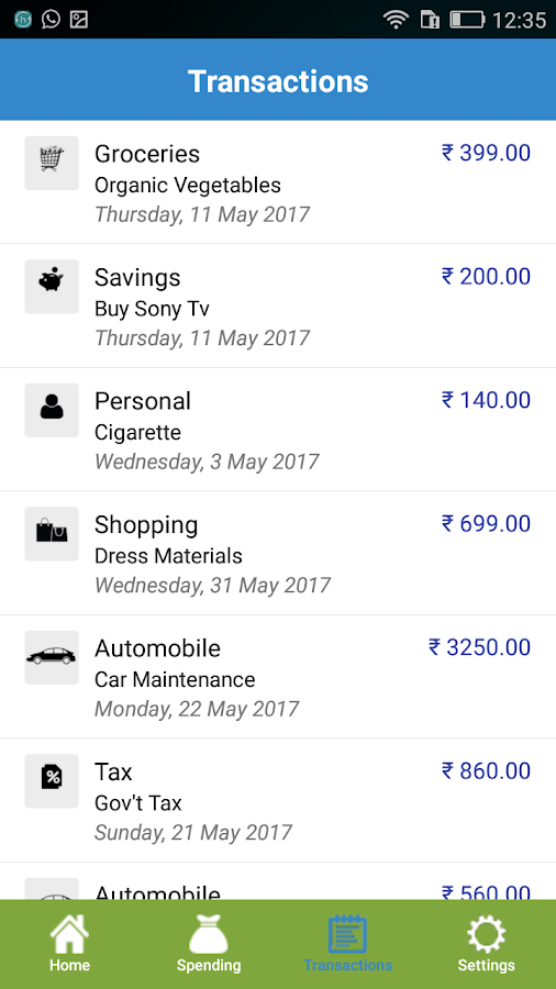 Spending Expense Tracker - Money Manager- screenshot
