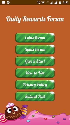 Spins and coins Rewards Forum 1.0 screenshots 1