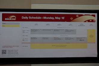 Photo: The Schedule for Tutorial day.