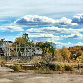 by John Fisher - City,  Street & Park  Amusement Parks ( geauga lake, kent, aurora, roller coaster, abandoned )