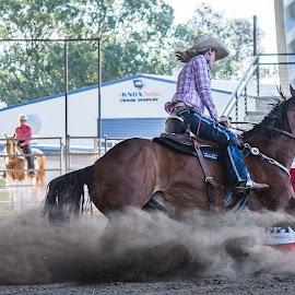 The Second by Sarah Sullivan - Sports & Fitness Other Sports ( barrel racing, dust, dalby, sarah sullivan photography )