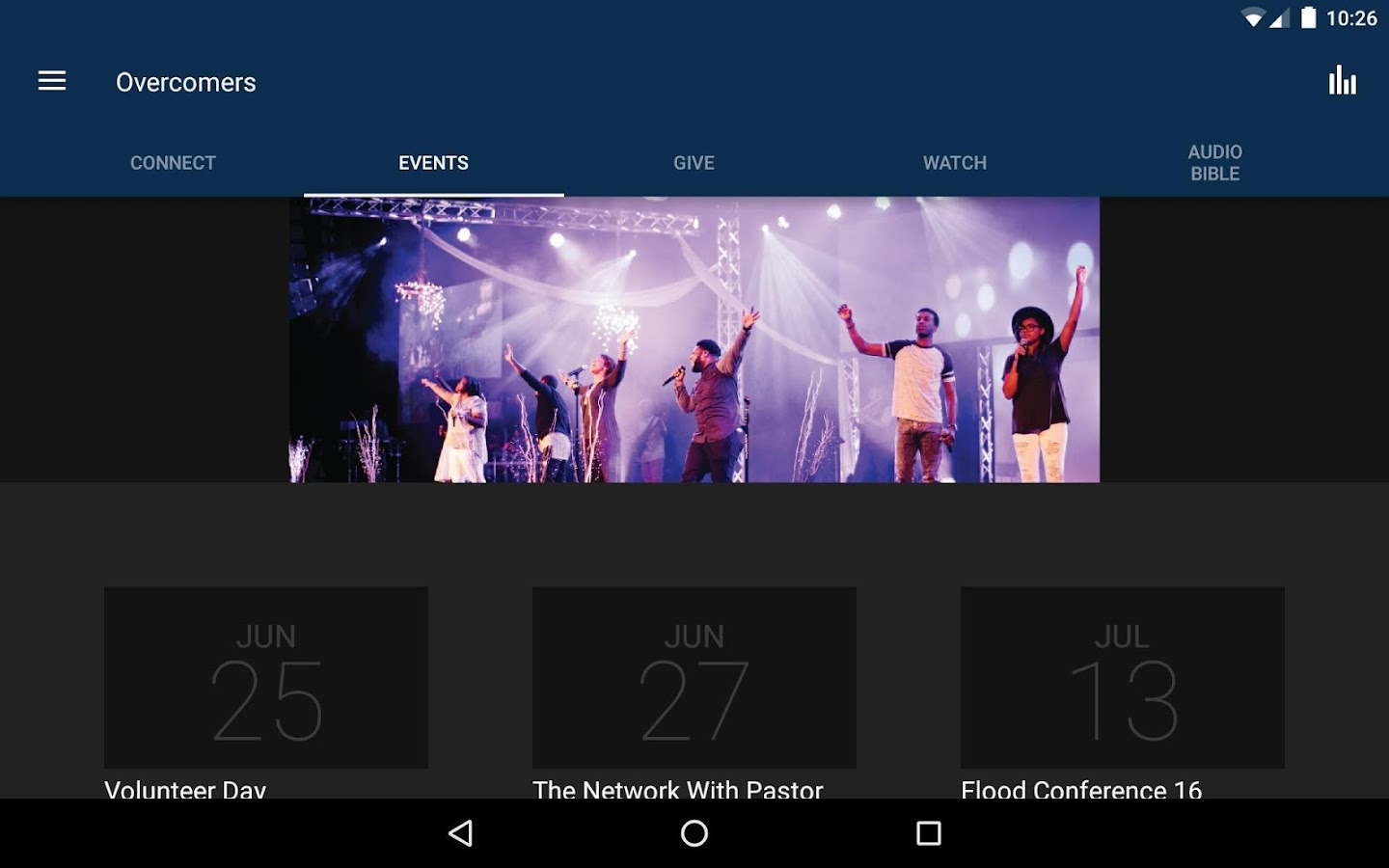 Overcomers App- screenshot
