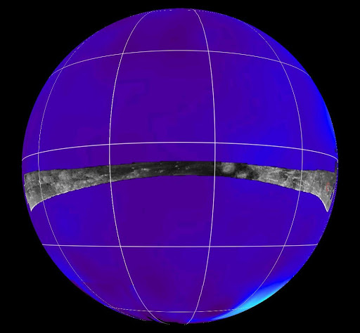 Radar Swath of Oct. 28, 2005, Titan Flyby