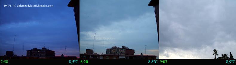 Photo: Amanecer del día 19/01/11