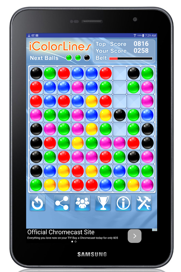 i Color Lines Puzzle Game- screenshot