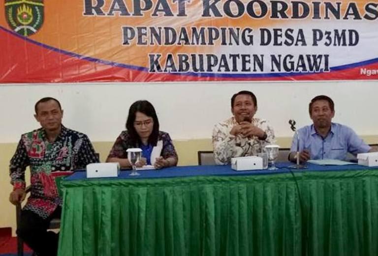 P3MD Ngawi Gelar Rakor dengan seluruh Tenaga Pendamping Desa