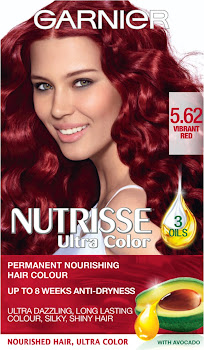 Garnier Nutrisse Permanent Hair Dye - 5.62 Vibrant Red