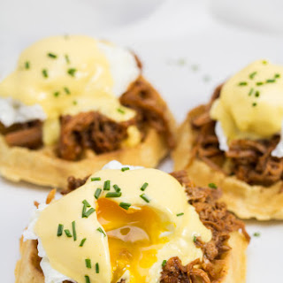 Waffle Pulled Pork Eggs Benedict.
