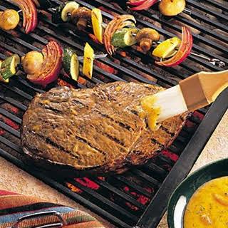 Grilled Beef Sirloin & Farmer's Market Skewers.