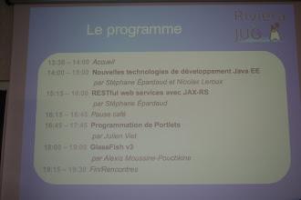 Photo: Le programme.
