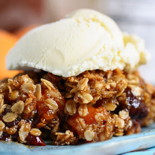 Dried Stone Fruit Pie with Pecan Oat Streusel
