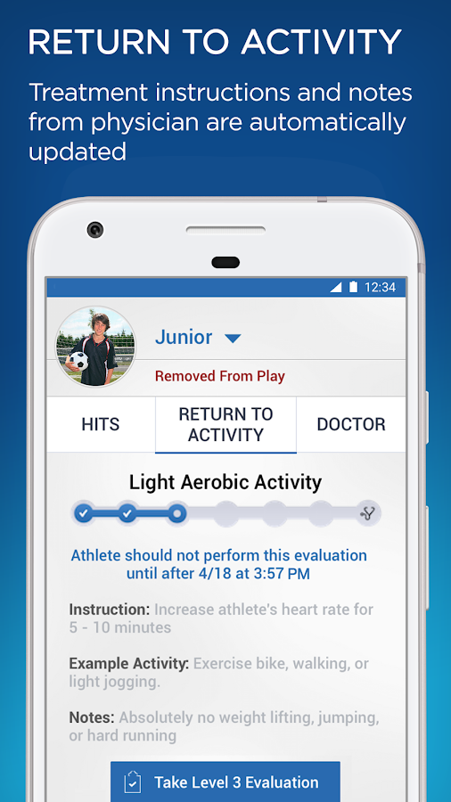 Concussion Test & Tracker by SportGait- screenshot