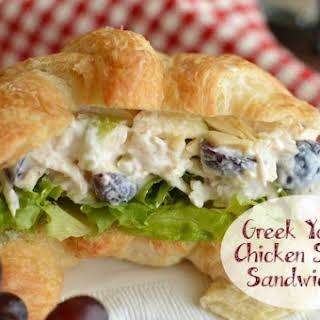Greek Yogurt Chicken Salad Sandwiches.