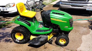 Photo: Freshly washed mower. Look at those knobby rear tires!